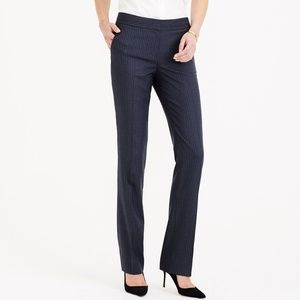 J. Crew Cambell trouser, charcoal pinstripe, 0P